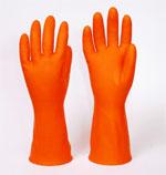 hand01 ถุงมือยางสีส้ม สำหรับงานทั่วไป